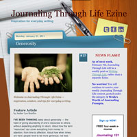 Journaling Through Life News Flash — 02/04/2011