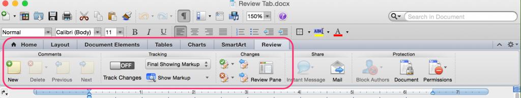 Mac Review Tab
