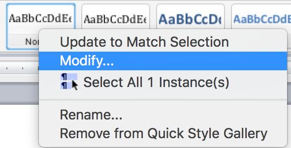 mac modify quickstyle